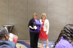 Gloria Litton Board Member of the Year with Linda Vernon